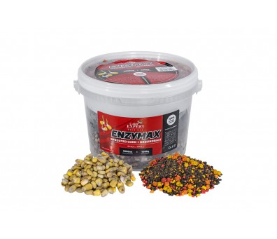 CARP EXPERT ENZYMAX CORN+GROUND BAIT 4.0 L. STRAWBERRY-FISH