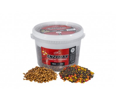 CARP EXPERT ENZYMAX FEEDER MIX+GROUND BAIT 4.0 L. STRAWBERRY-FISH