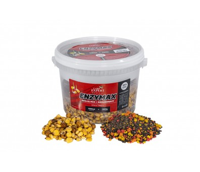 CARP EXPERT ENZYMAX BOILIE MIX+GROUND BAIT 4.0 L. STRAWBERRY-FISH