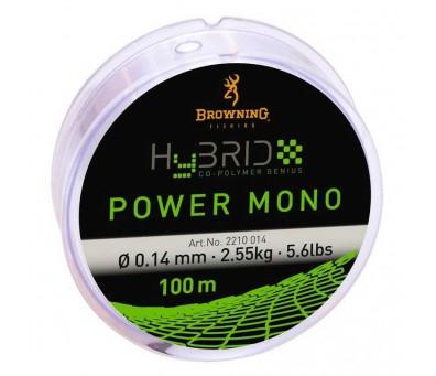BROWNING МОНОФИЛНО ВЛАКНО HYBRID POWER MONO 0.22мм. 100м.